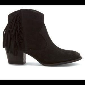 Marc Fisher Sade Fringe Ankle Boot- Size 7.5